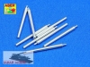 Aber 1:350 L-08 406 mm barrels for Japanese ships Mutsu (1/350)