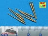 Aber 1/700 L-14  8 pcs 380 mm barrels for Bismarck, Tirpitz