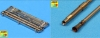 Aber 35L89 Set of 2 German 2cm L/65 gun barrel for Flak 38 with storage box (1/35)