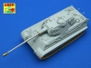 Aber 72L36 8,8 cm KwK 43 L/71 tank barrel for Tiger II (1/72)