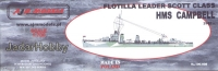 AJM Models 700-008 1/700 HMS Campbell Flotilla Leader Scott Class