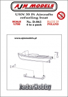 AJM Models D-061 1/700 USN 35 Aircrafts refueling boat