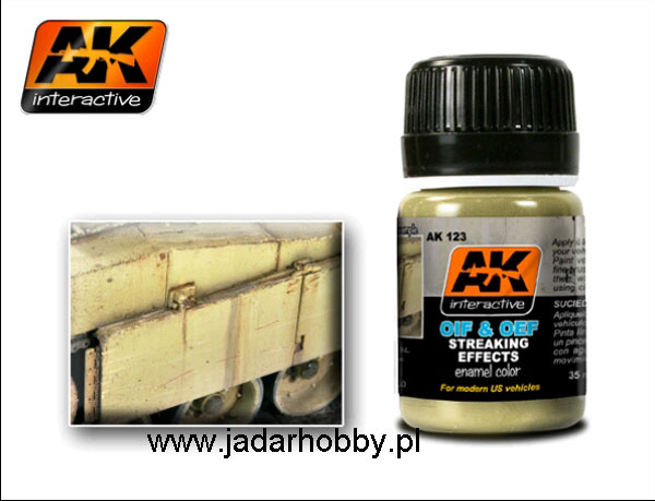 AK Interactive AK123 OIF & OEF - US Vehicles Streaking Effects (35ml)