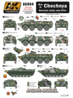 AK Interactive AK0804 1/35 CHECHNYA War in Russian tanks and AFVs