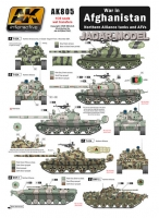 AK Interactive AK0805 1/35 War in AFGHANISTAN Nosthern Alliance tanks and AFV