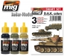 A.MIG-7102 (BACKORDER) Afrika Korps - Smart Acrylic Set (3x17ml)