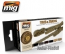 A.MIG-7105 (BACKORDER) Tires and Tracks Colors Set (6x17ml)