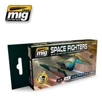 A.MIG-7131 Space Fighters Sci-Fi Colors - Acrylic Paint Set (6x17ml)