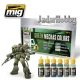A.MIG-7149 Green Mechas Colors - Acrylic Paint Set (6x17ml)