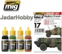 A.MIG-7151 Modern French Armed Forces vehicles - Acrylic Smart Set (4x17ml)