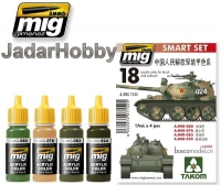 A.MIG-7152 PLA (Chinese People's Liberation Army) vehicles - Acrylic Smart Set (4x17ml)