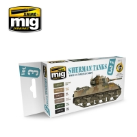 A.MIG-7171 Sherman Tanks Vol. 3 (WWII US Marine Corps) - Acrylic Paint Set (6x17ml)