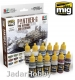A.MIG-7174 (BACKORDER) Panther G Colors Set for Interior and Exterior Set (12x17ml)