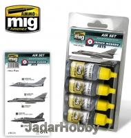 A.MIG-7211 French Moder Jets Colors (4x17ml)