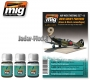 A.MIG-7422 WW2 Soviet Airplanes (Green & Black Camouflages) (3x35ml)