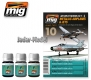 A.MIG-7423 Metallic Airplanes & Jets (3x35ml)