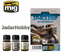 A.MIG-7444 Spaceship - Sci-Fi -Weathering Set