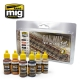 A.MIG-7471 Railway Fast Method Paint Set (6x17ml)