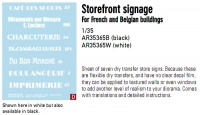 Archer AR35365W 1:35 Storagefront Signage for French and Belgian Buildings (White)