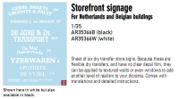 Archer AR35366B 1:35 Storagefront Signage for Dutch and Belgian Buildings (Black)