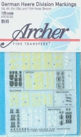 Archer AR35082 German Here Division Signs (1/35)
