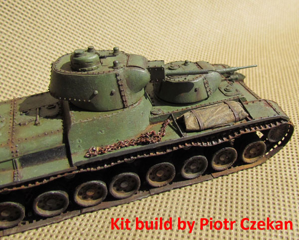 Armo 72136 T-100 Soviet twin-turreted heavy tank with L-11 gun (1/72)