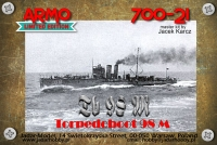 Armo 700-21 1/700 Tb 98 M Austro-Hungarian Torpedoboat, 1915