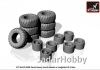 Armory AR AC7335 1/72 KrAZ-255B off-road truck wheels w/ weighted VI-3 tires