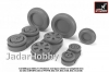 Armory AR AW32010 1/32 Mikoyan MiG-21 Fishbed wheels w/ weighted tires, mid