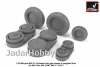 Armory AR AW32011 1/32 Mikoyan MiG-21 Fishbed wheels w/ weighted tires, late