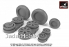 Armory AR AW48028 1/48 Mikoyan MiG-21 Fishbed wheels w/ weighted tires, mid