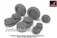 Armory AR AW48029 1/48 Mikoyan MiG-21 Fishbed wheels w/ weighted tires, late
