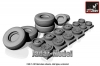 Armory AR AW48310 1/48 C-130 Hercules wheels, mid type