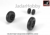 "Armory AR AW72503 1/72 JAS-39 ""Gripen"" wheels w/ weighted tires, early"