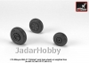 Armory AR AW72048 1/72 Mikoyan MiG-21 Fishbed wheels w/ weighted tires, early