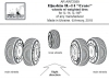 Armory AR AW72059 1/72 Iljushin IL-14 wheels w/ weighted tires