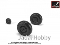 Armory AR AW72202 1/72 Junkers Ju 88 late wheels w/ weighted tires