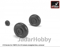 Armory AR AW72203 1/72 Junkers Ju 188 wheels w/ weighted tires