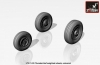 Armory AR AW72313 1/72 F-105 Thunderchief Weighted Wheels