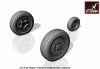 Armory AR AW72315 1/72 F-22 Raptor Weighted Wheels