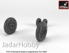 Armory AR AW72328 1/72 F-4 Phantom-II wheels w/ weighted tires, early