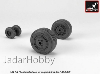 Armory AR AW72329 1/72 F-4 Phantom-II wheels w/ weighted tires, mid