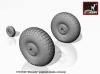 "Armory AR AW72406 1/72 deHavilland DH.98 ""Mosquito"" weighted wheels, universal"