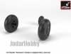 Armory AR AW72416 1/72 Hawker Hurricane Wheels w/Weighted Tyres