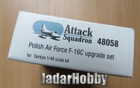 Attack Squadron 48058 1/48 PAF F-16C upgrade set for Tamiya