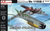 "AZ Model AZ 7537 1/72 Messerschmitt Me 1106B-1 ""Aces"" Luftwaffe '46"