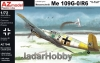 "AZ Model AZ 7546 1/72 Messerschmitt Me 109G-0/R6 ""V-Tail"""