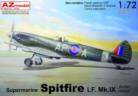 "AZ Model AZ 7633 1/72 Spitfire HF.Mk.IX ""Bubble canopy"""