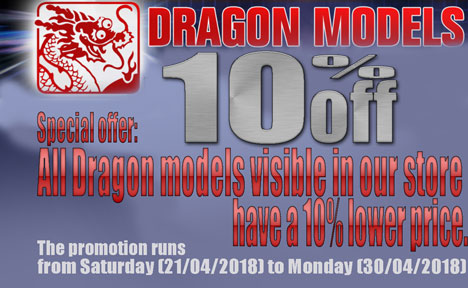 10% discount for Dragon kits