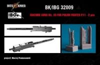 BitsKrieg BK32009 1/32 wz.33 Machine Guns for PZL P.11C Polish Fighter (IBG 32001)